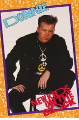 New Kids On The Block Donnie Wahlberg 1989 Rare Vintage Poster ___